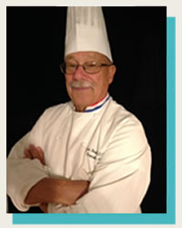 Chef-Michael-Beriau at hotel restaurant supply show competition